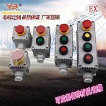 2鈕一燈防爆按鈕盒帶燈啟停主令控制開關