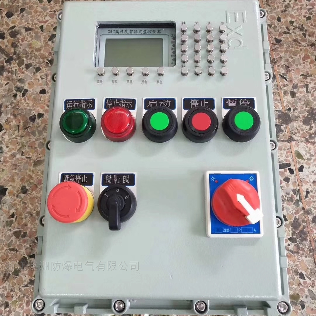防爆控制箱带高精度智能定量控制器