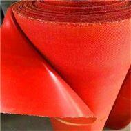 诚宇1.2MM后红色纯硅胶防火布生产厂家