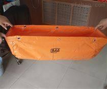 橙紅色GD40隔爆水袋涂覆布阻燃抗靜電
