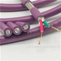 紫色高柔性DP拖曳電纜2*22awg/19拖鏈總線