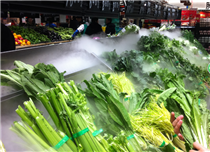 超市蔬菜貨架保鮮,火鍋店超聲波加濕器