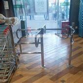 尼高迈购物超市单向入口不锈钢手动十字转闸机