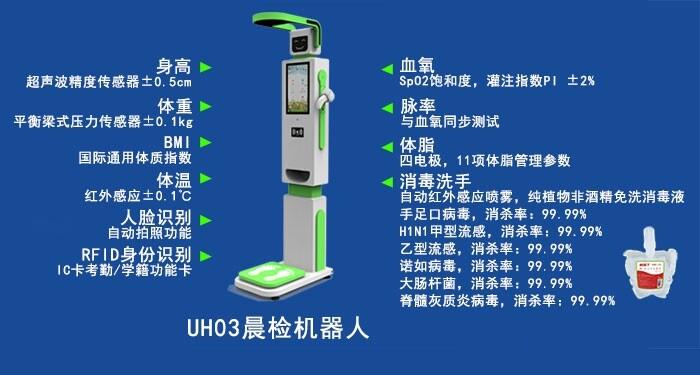 河北邯郸幼儿园晨检机器人零接触测体温八大功能