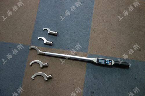 螺栓数显测量扭矩扳手图片(可配勾型头)