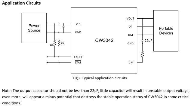 CW3042应用电路图