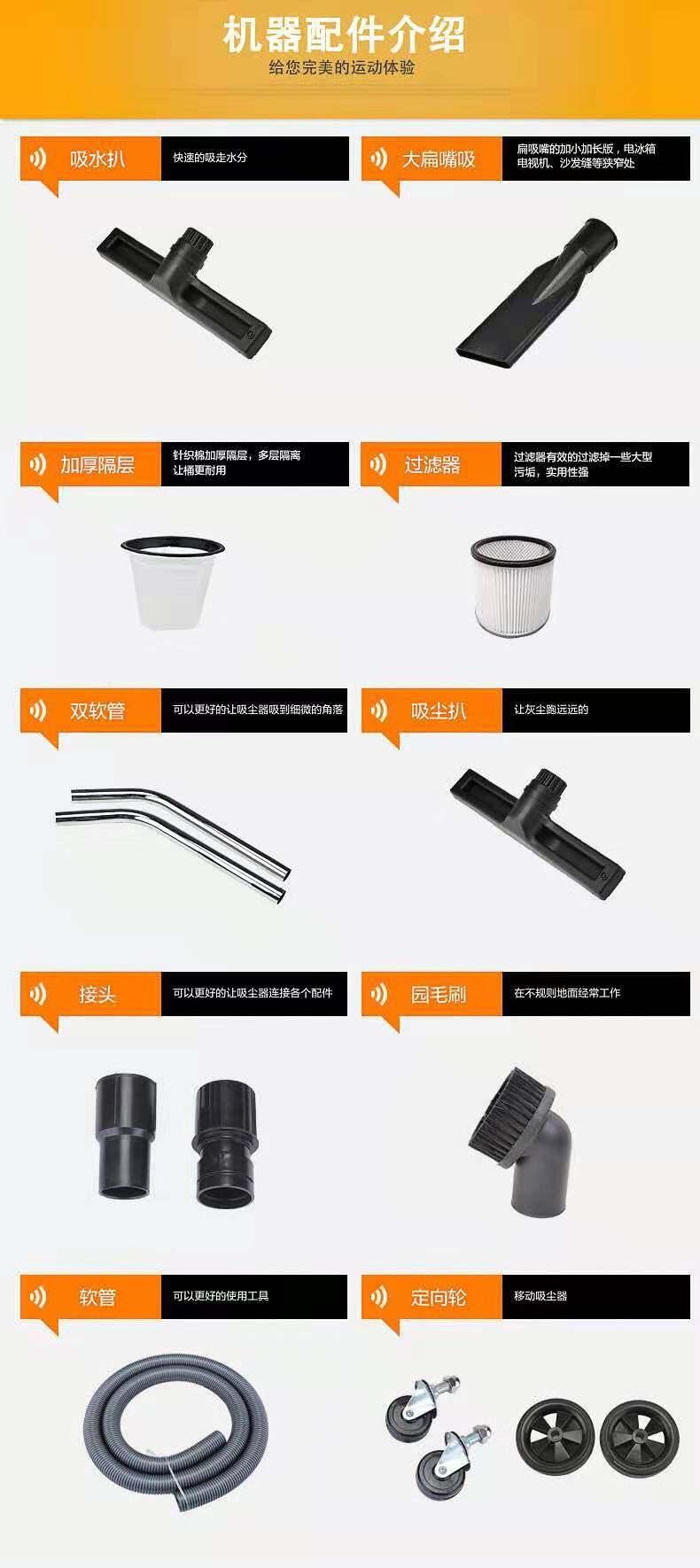 平面磨床吸尘器 工业粉末吸尘器车间干湿两用强吸力吸尘器示例图21